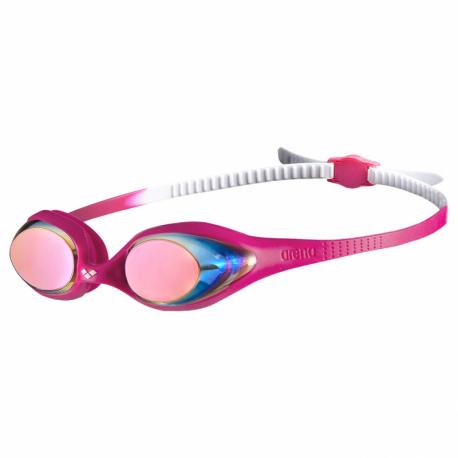 Juniorské plavecké okuliare ARENA-Spider Jr Mirror WHITE-PINK-FUCHSIA