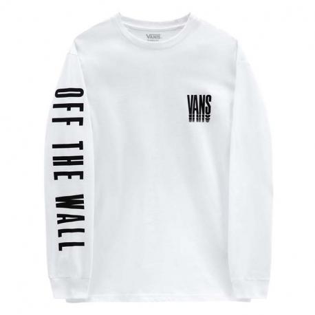 Pánské triko s dlouhým rukávem VANS-MN REFLECT LS -White