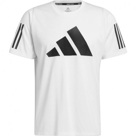 Pánské tréninkové triko s krátkým rukávem ADIDAS-FL 3 BAR TEE WHITE