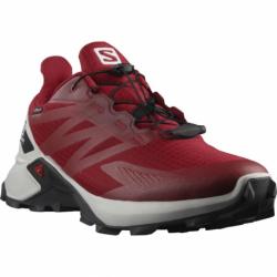 Pánska bežecká trailová obuv SALOMON-Supercross Blast GTX chili/lunroc (EX)