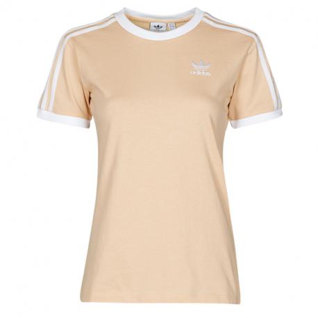 Dámské tréninkové tričko s krátkým rukávem ADIDAS-3 STRIPES TEE HALBLU