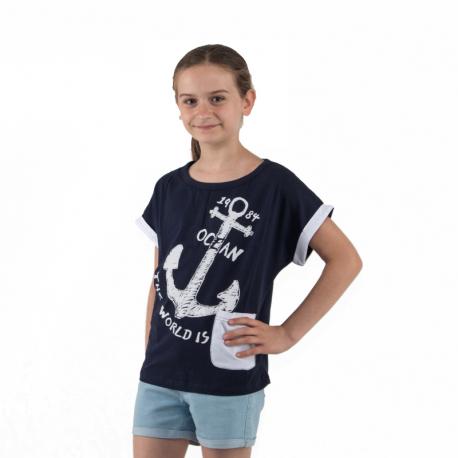 Dievčenské tričko s krátkym rukávom AUTHORITY KIDS-EIMMY G II_DS blue