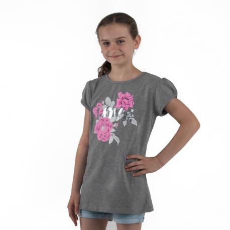 Dívčí tričko s krátkým rukávem AUTHORITY KIDS-SUNSET G I_DS grey