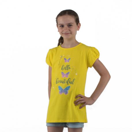 Dievčenské tričko s krátkym rukávom AUTHORITY KIDS-SUNSET G I_DS yellow