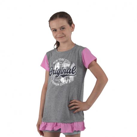 Dívčí tričko s krátkým rukávem AUTHORITY KIDS-èisté G_DS grey