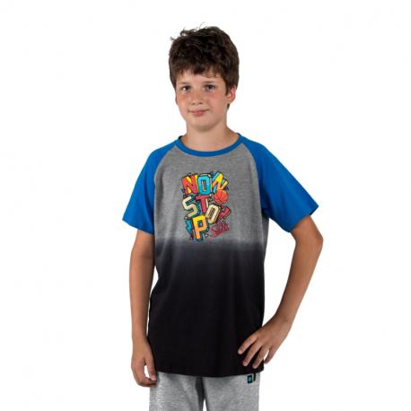 Chlapecké tričko s krátkým rukávem AUTHORITY KIDS-BASKYT B_DS lt blue
