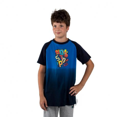Chlapecké tričko s krátkým rukávem AUTHORITY KIDS-BASKYT B_DS dk blue