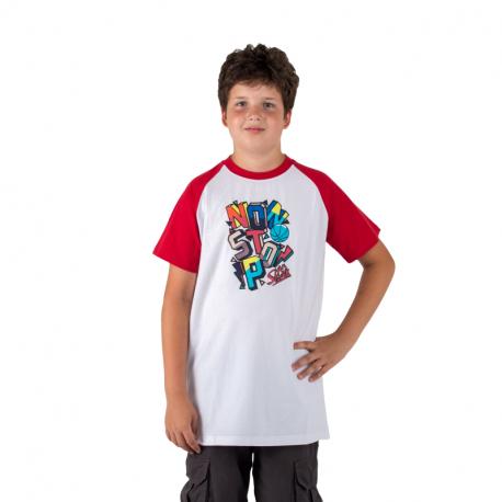 Chlapecké tričko s krátkým rukávem AUTHORITY KIDS-BASKYT B_DS red