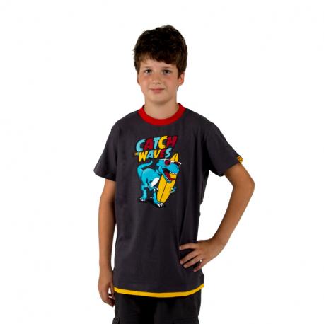 Chlapčenské tričko s krátkym rukávom AUTHORITY KIDS-SR_TINO grey