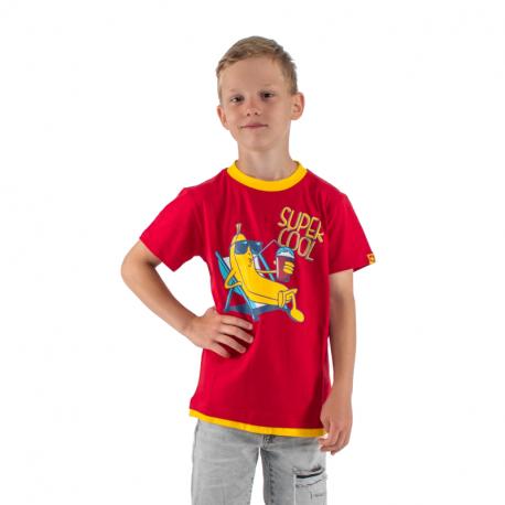 Chlapecké tričko s krátkým rukávem AUTHORITY KIDS-SR_TABAN red