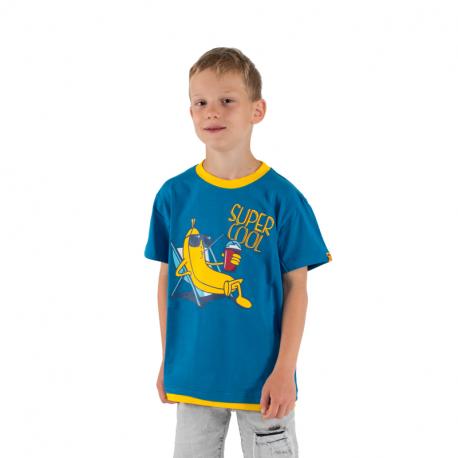 Chlapčenské tričko s krátkym rukávom AUTHORITY KIDS-SR_TABAN dk blue