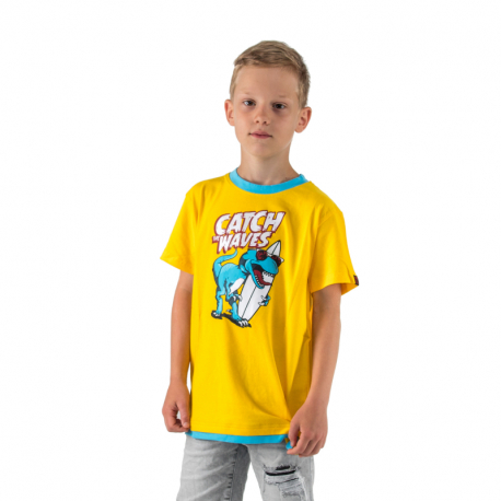 Chlapecké tričko s krátkým rukávem AUTHORITY KIDS-SR_TINO yellow
