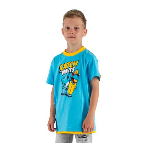 Chlapčenské tričko s krátkym rukávom AUTHORITY KIDS-SR_TINO blue