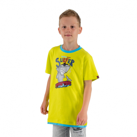 Chlapecké tričko s krátkým rukávem AUTHORITY KIDS-SR_TSHARK red