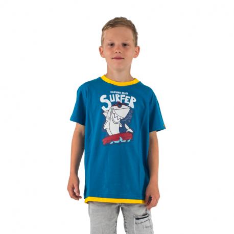 Chlapčenské tričko s krátkym rukávom AUTHORITY KIDS-SR_TSHARK dk blue