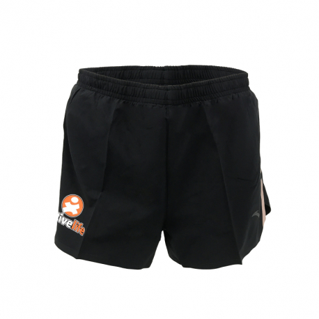 Dámské běžecké kraťasy ACTIVE LIFE-Woven Shorts-WOMEN-Basic Black / pink fruit-862025527-2