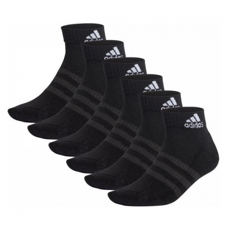 Ponožky ADIDAS-CUSH ANK 6PP-Black-6 pack