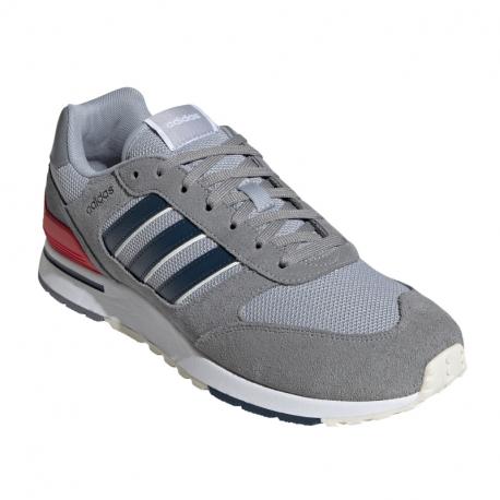 Pánská rekreační obuv ADIDAS-Run 80s grey / crew navy / halo silver (EX)
