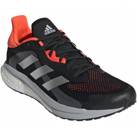 Pánská běžecká obuv ADIDAS-Solar Glide 4 ST M core black / grey two / solar red (EX)