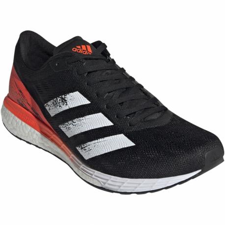 Pánska bežecká obuv ADIDAS-Adizero Boston 9 core black/cloud white/solar red (EX)