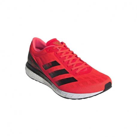 Pánská běžecká obuv ADIDAS-Adizero Boston 9 solar red / core black / gold metallic (EX)