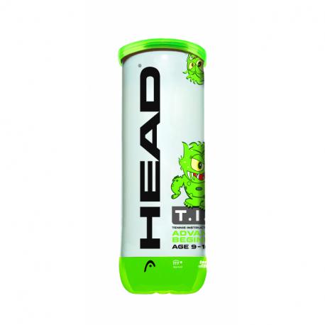 Tenisové loptičky 3ks HEAD-TIP green 3B
