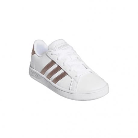 Juniorská rekreační obuv ADIDAS-Grand Court ftwr white / vapour grey met / light granite
