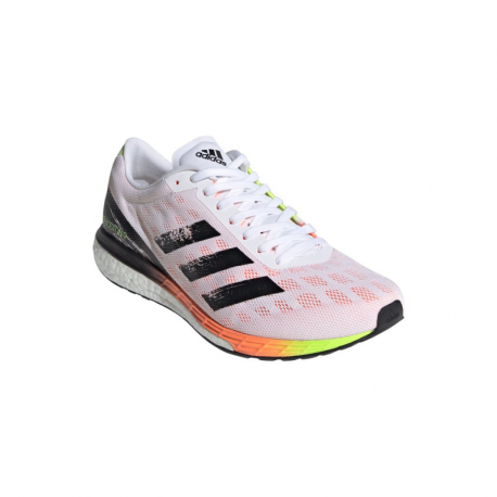 Pánská běžecká obuv ADIDAS-Adizero Boston 9 cloud white / core black / screaming orange