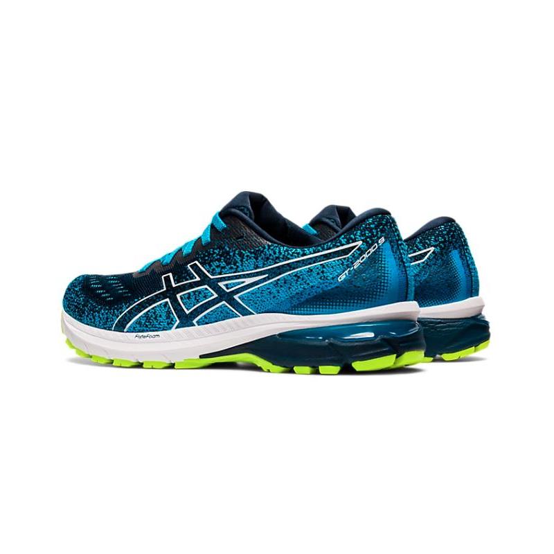 Pánska bežecká obuv ASICS-GT-2000 9 Knit french blue/white -