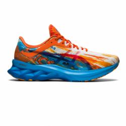 Pánska bežecká obuv ASICS-Novablast digital aqua/marigold orange