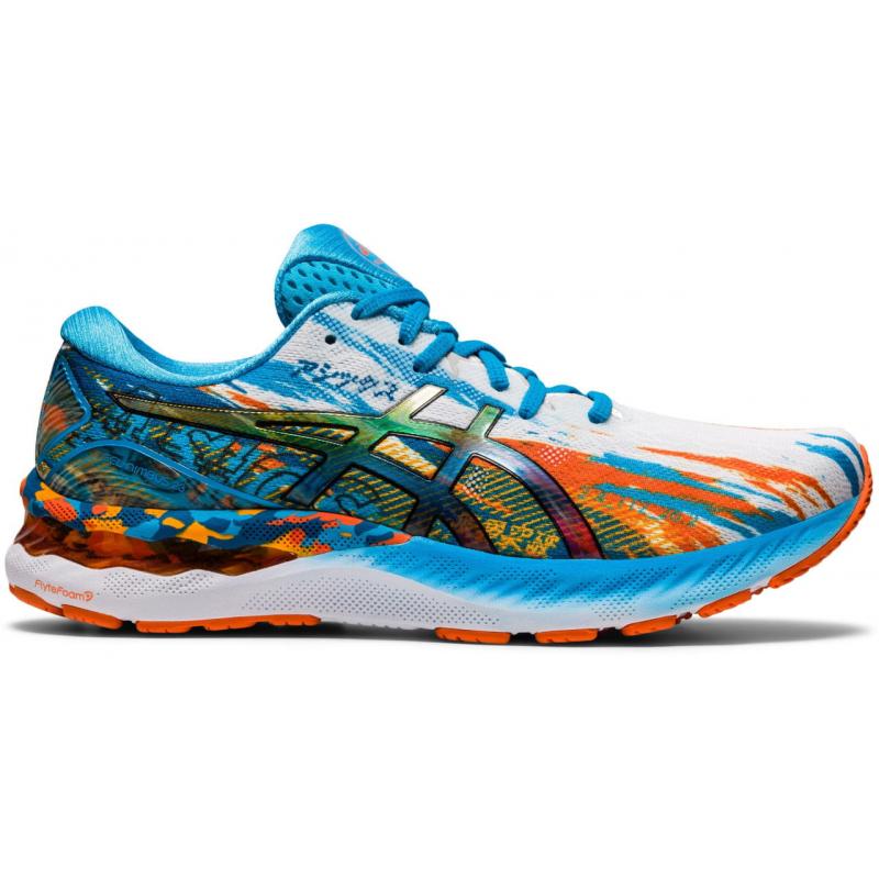 Pánska bežecká obuv ASICS-Gel Nimbus 23 digital aqua/marigold orange -