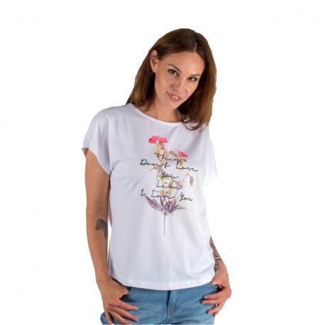 Dámské triko s krátkým rukávem AUTHORITY-ETTUDY_DS white