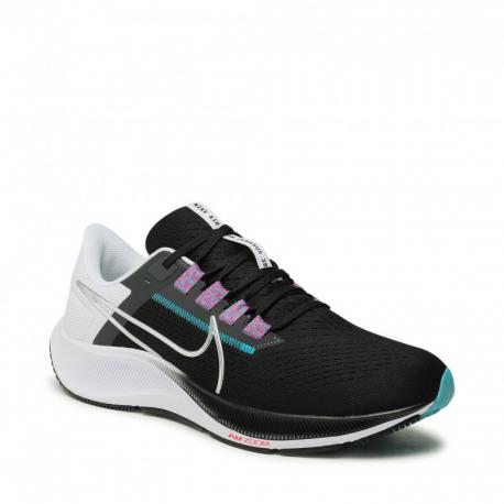 Pánská běžecká obuv NIKE-Air Zoom Pegasus 38 black / white / chlorine blue (EX)