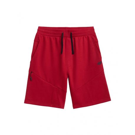 Pánske teplákové kraťasy 4F-MENS SHORTS-H4L21-SKMD013-62S-RED