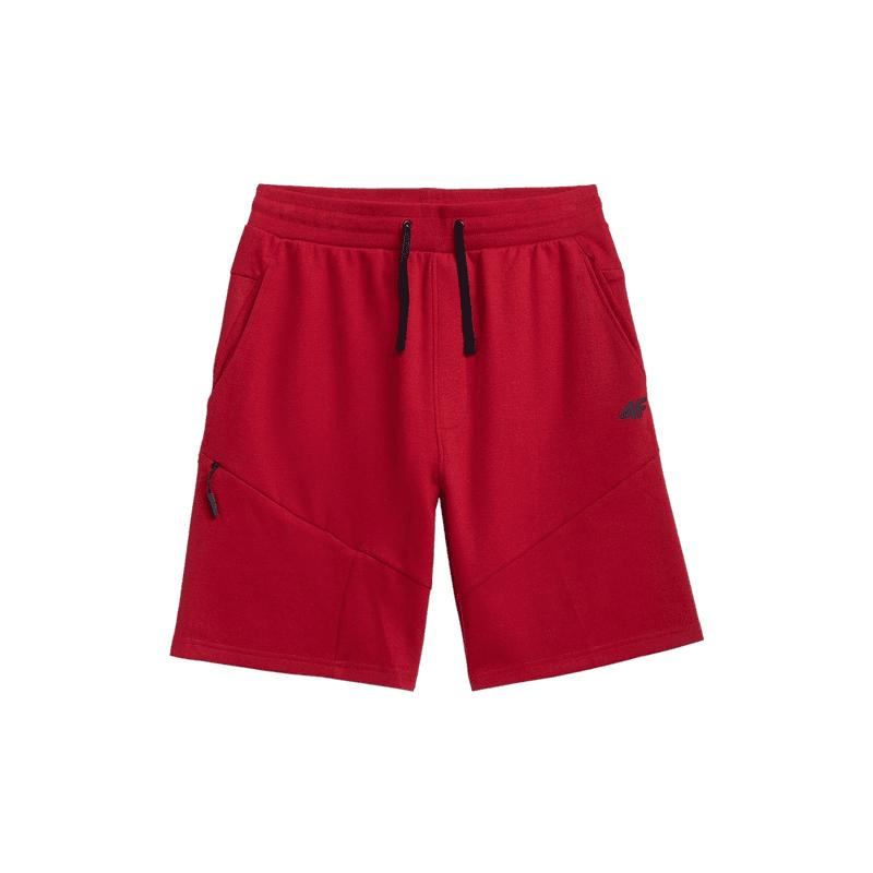 Pánske teplákové kraťasy 4F-MENS SHORTS-H4L21-SKMD013-62S-RED -