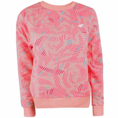 Dievčenská mikina 4F-GIRLS-midlayer-HJL21-JBLD003-56S-Pink