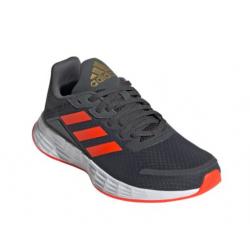 Juniorská rekreačná obuv ADIDAS-Duramo SL grey six/solar red/carbon