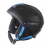 BLIZZARD MEGA ski helmet, black matt/neon blue