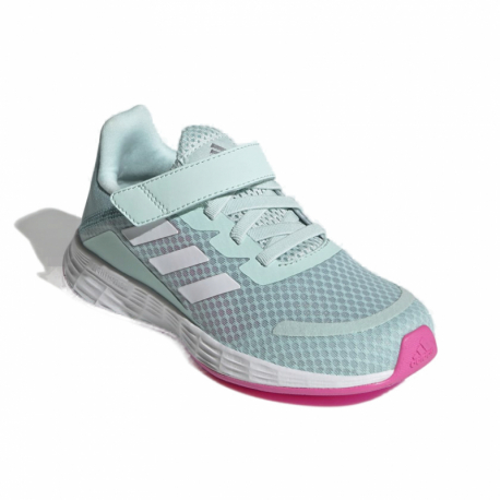 Dětská rekreační obuv ADIDAS-Duramo SL halo mint / cloud white / screaming pink GW2239