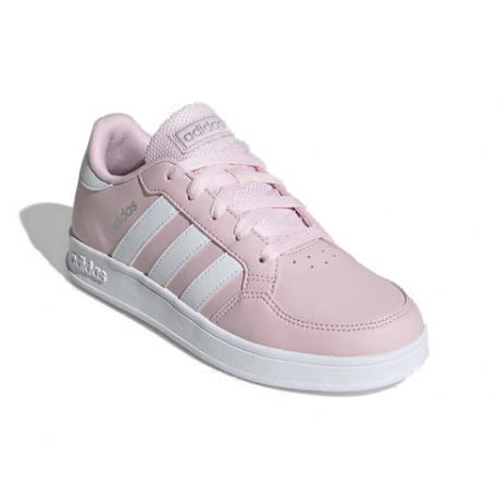 Detská rekreačná obuv ADIDAS-Breaknet clear pink/cloud white/silver mat