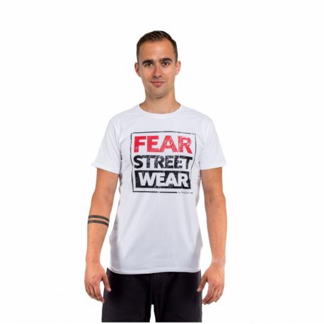 Pánské triko s krátkým rukávem AUTHORITY-T-FEAR_white