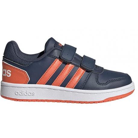 Dětská rekreační obuv ADIDAS-Hoops 2.0 CMF navy / orange / white