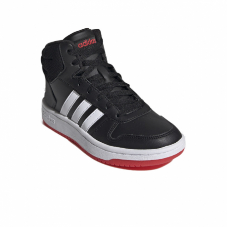 Juniorská rekreačná obuv ADIDAS-Hoops 2.0 Mid core black/cloud white/vivid red