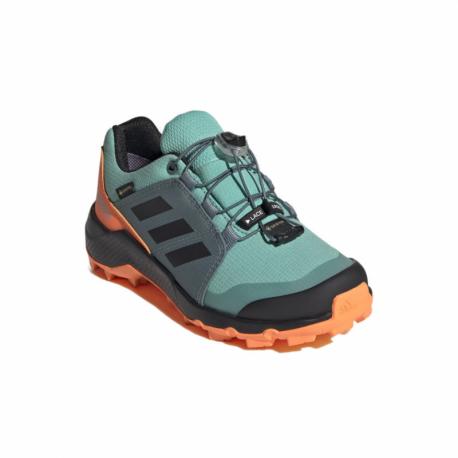 Dámska nízka turistická obuv ADIDAS-Terrex GTX acid mint/core black/screaming orange