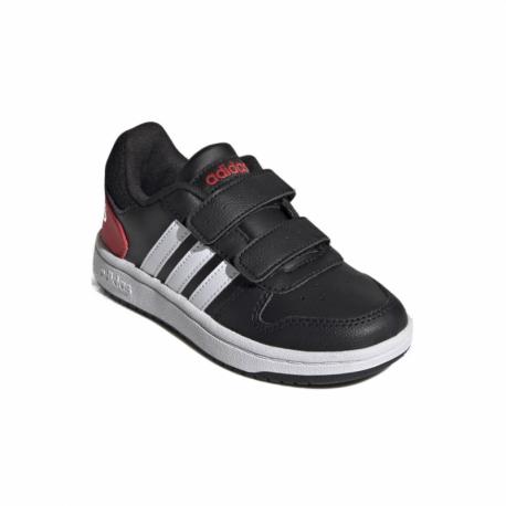 Detská rekreačná obuv ADIDAS-Hoops 2.0 core black/cloud white/vivid red