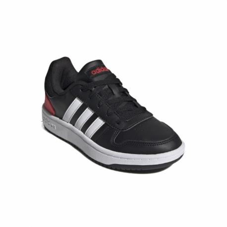 Juniorská rekreačná obuv ADIDAS-Hoops 2.0 core black/cloud white/vivid red FY7015