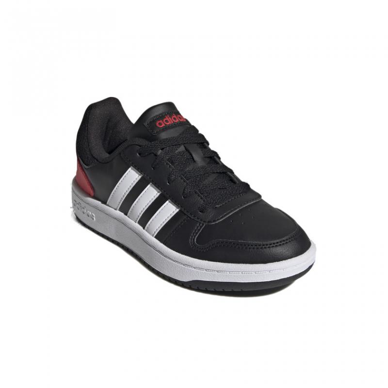 ADIDAS-Hoops 2.0 core black/cloud white/vivid red FY7015 32 Čierna