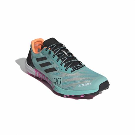 Pánská běžecká trailová obuv ADIDAS-Terrex Speed Pro acid mint / core black / screaming pink (EX)