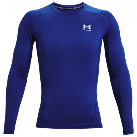 Pánske kompresné tričko s dlhým rukávom UNDER ARMOUR-UA HG Armour Comp LS-BLU