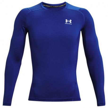 Pánské kompresní tričko s dlouhým rukávem UNDER ARMOUR-UA HG Armour Comp LS-BLU